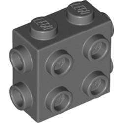 Dark Bluish Gray Brick, Modified 1 x 2 x 1 2/3 with Studs on 3 Sides