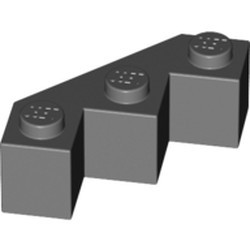 Dark Bluish Gray Brick, Modified Facet 3 x 3