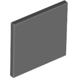 Dark Bluish Gray Road Sign 2 x 2 Square with Clip - new