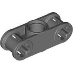 Dark Bluish Gray Technic, Axle and Pin Connector Perpendicular 3L with Center Pin Hole - new