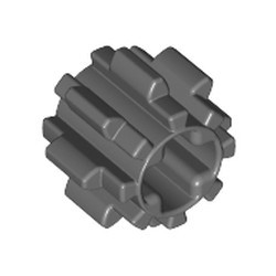 Dark Bluish Gray Technic, Gear 8 Tooth with Dual Face