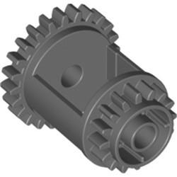 Dark Bluish Gray Technic, Gear Differential, 24-16 Teeth - new