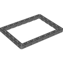 Dark Bluish Gray Technic, Liftarm 11 x 15 Open Center Frame Thick - new
