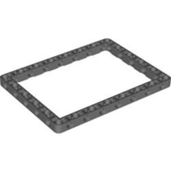 Dark Bluish Gray Technic, Liftarm, Modified Frame Thick 11 x 15 Open Center