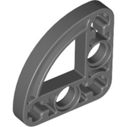 Dark Bluish Gray Technic, Liftarm, Modified L-Shape Quarter Ellipse Thin 3 x 3