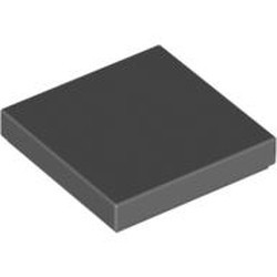 Dark Bluish Gray Tile 2 x 2 with Groove - new
