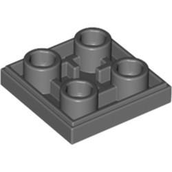 Dark Bluish Gray Tile, Modified 2 x 2 Inverted - used