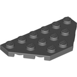 Dark Bluish Gray Wedge, Plate 3 x 6 Cut Corners
