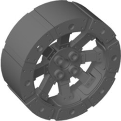 Dark Bluish Gray Wheel Wagon Viking with 12 Holes (55mm D.) - new