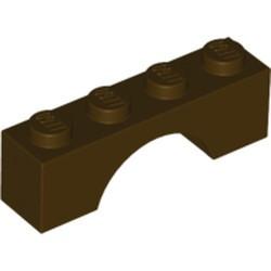 Dark Brown Brick, Arch 1 x 4 - used