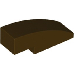 Dark Brown Slope, Curved 3 x 1 - new