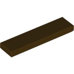 Dark Brown Tile 1 x 4 - used