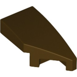 Dark Brown Wedge 2 x 1 x 2/3 with Stud Notch Right