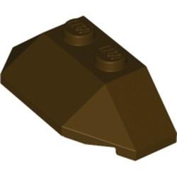 Dark Brown Wedge 2 x 4 Triple