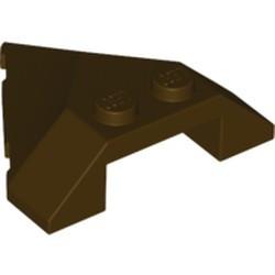 Dark Brown Wedge 4 x 4 Pointed - used