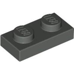 Dark Gray Plate 1 x 2 - used
