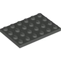 Dark Gray Plate 4 x 6 - used