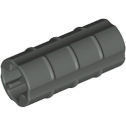 Dark Gray Technic, Axle Connector 2L (Ridged with x Hole x Orientation) - used