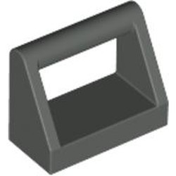 Dark Gray Tile, Modified 1 x 2 with Bar Handle - used