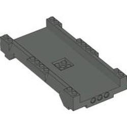 Dark Gray Track System, Straight Track 16 x 8 x 2 - used