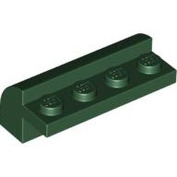 Dark Green Slope, Curved 2 x 4 x 1 1/3 with Four Recessed Studs - used