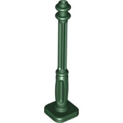 Dark Green Support 2 x 2 x 7 Lamp Post, 4 Base Flutes