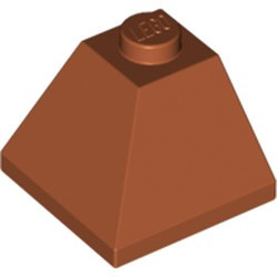 Dark Orange Slope 45 2 x 2 Double Convex Corner - new