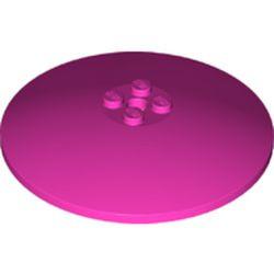 Dark Pink Dish 8 x 8 Inverted (Radar) - new - Solid Studs