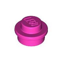 Dark Pink Plate, Round 1 x 1 - used