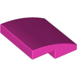 Dark Pink Slope, Curved 2 x 2