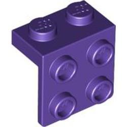 Dark Purple Bracket 1 x 2 - 2 x 2 - used