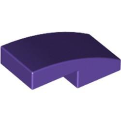 Dark Purple Slope, Curved 2 x 1