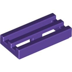 Dark Purple Tile, Modified 1 x 2 Grille with Bottom Groove / Lip - used