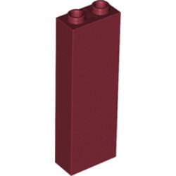 Dark Red Brick 1 x 2 x 5 - Blocked Open Studs or Hollow Studs - new