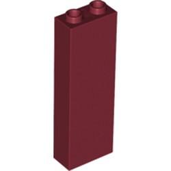 Dark Red Brick 1 x 2 x 5 - Blocked Open Studs or Hollow Studs - new