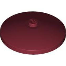 Dark Red Dish 4 x 4 Inverted (Radar) - used with Solid Stud