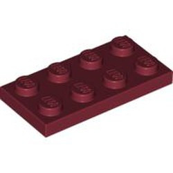Dark Red Plate 2 x 4