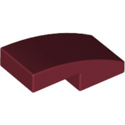 Dark Red Slope, Curved 2 x 1 - new