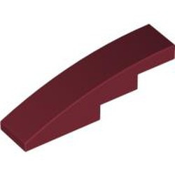 Dark Red Slope, Curved 4 x 1
