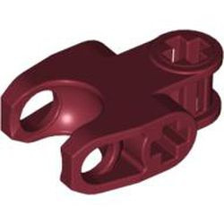 Dark Red Technic, Axle Connector 2 x 3 with Ball Joint Socket, Closed Sides, Squared Ends