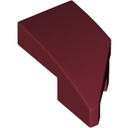 Dark Red Wedge 2 x 1 x 2/3 with Stud Notch Left
