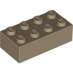 Dark Tan Brick 2 x 4 - new