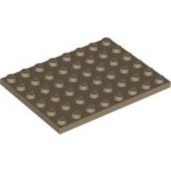 Dark Tan Plate 6 x 8