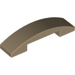 Dark Tan Slope, Curved 4 x 1 Double - new