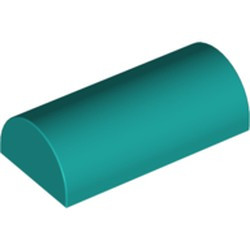 Dark Turquoise Slope, Curved 2 x 4 Double - new