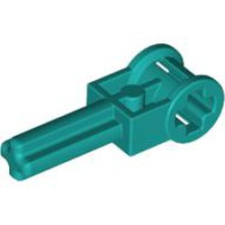 Dark Turquoise Technic, Axle 2 with Reverser Handle Axle Connector - used