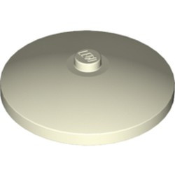 Glow In Dark White Dish 4 x 4 Inverted (Radar) with Solid Stud - used