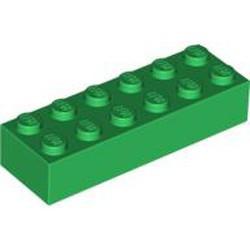 Green Brick 2 x 6 - new