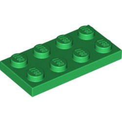 Green Plate 2 x 4