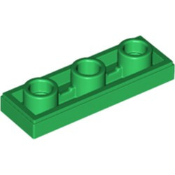 Green Tile, Modified 1 x 3 Inverted with Hole - new